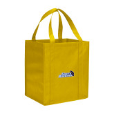 Non Woven Gold Grocery Tote-Santa Barbara with Hat