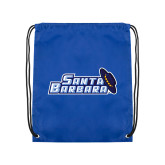 Royal Drawstring Backpack-Santa Barbara with Hat