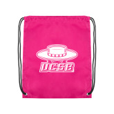 Pink Drawstring Backpack-Primary