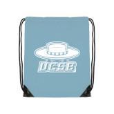 Light Blue Drawstring Backpack-Primary