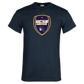 Navy T Shirt-UCSB Soccer Shield