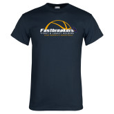 Navy T Shirt-Fastbreakers Ticket and Legacy Holders