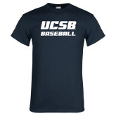 Navy T Shirt-Baseball