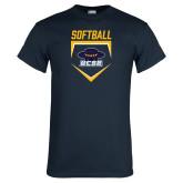 Navy T Shirt-Softball Plate
