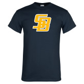 Navy T Shirt-Interlocking SB