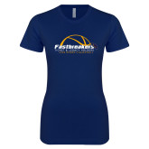 Next Level Ladies SoftStyle Junior Fitted Navy Tee-Fastbreakers Ticket and Legacy Holders