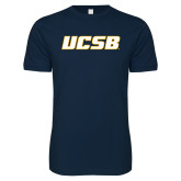 Next Level SoftStyle Navy T Shirt-UCSB