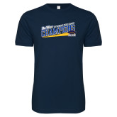 Next Level SoftStyle Navy T Shirt-2017 Womens Cross Country Champions