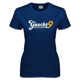 Ladies Navy T Shirt-Gauchos 9