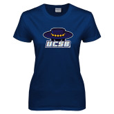 Ladies Navy T Shirt-Primary