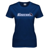 Ladies Navy T Shirt-Gauchos with Hat