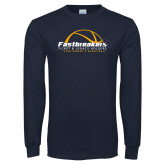 Navy Long Sleeve T Shirt-Fastbreakers Ticket and Legacy Holders
