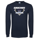 Navy Long Sleeve T Shirt-Gauchos Baseball Diamond