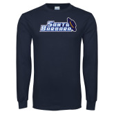 Navy Long Sleeve T Shirt-Santa Barbara with Hat