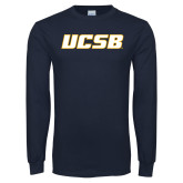 Navy Long Sleeve T Shirt-UCSB