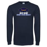 Navy Long Sleeve T Shirt-Dare to be Great