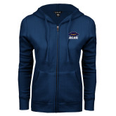 ENZA Ladies Navy Fleece Full Zip Hoodie-Primary