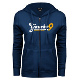 ENZA Ladies Navy Fleece Full Zip Hoodie-Gauchos 9