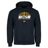 Navy Fleece Hoodie-UCSB Basketball Half Ball