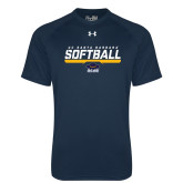 Under Armour Navy Tech Tee-Softball Stencil