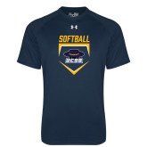 Under Armour Navy Tech Tee-Softball Plate