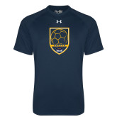 Under Armour Navy Tech Tee-Soccer Shield