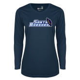 Ladies Syntrel Performance Navy Longsleeve Shirt-Santa Barbara with Hat