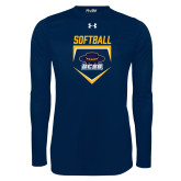 Under Armour Navy Long Sleeve Tech Tee-Softball Plate