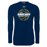 Under Armour Navy Long Sleeve Tech Tee-Gauchos Basketball Lined Ball