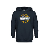 Youth Navy Fleece Hoodie-Gauchos Basketball Lined Ball