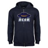 Navy Fleece Full Zip Hoodie-Primary