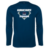 Performance Navy Longsleeve Shirt-Gauchos Baseball Diamond