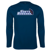 Performance Navy Longsleeve Shirt-Santa Barbara with Hat