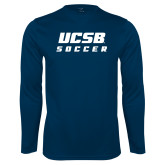Performance Navy Longsleeve Shirt-Soccer