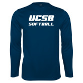 Performance Navy Longsleeve Shirt-Softball