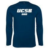Performance Navy Longsleeve Shirt-Dad