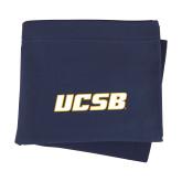 Navy Sweatshirt Blanket-UCSB