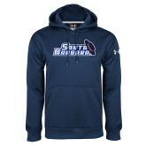 Under Armour Navy Performance Sweats Team Hood-Santa Barbara with Hat