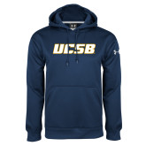 Under Armour Navy Performance Sweats Team Hood-UCSB