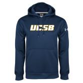 Under Armour Navy Performance Sweats Team Hood-UCSB