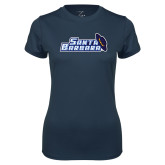 Ladies Syntrel Performance Navy Tee-Santa Barbara with Hat