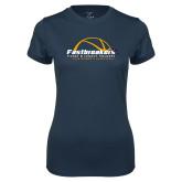 Ladies Syntrel Performance Navy Tee-Fastbreakers Ticket and Legacy Holders