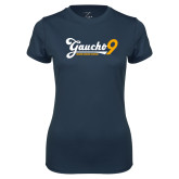 Ladies Syntrel Performance Navy Tee-Gauchos 9