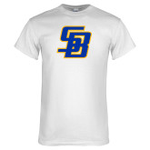 White T Shirt-Interlocking SB
