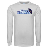 White Long Sleeve T Shirt-Santa Barbara with Hat