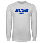 White Long Sleeve T Shirt-Dad