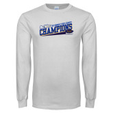 White Long Sleeve T Shirt-Track and Field Shoe Design