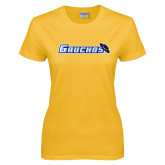 Ladies Gold T Shirt-Gauchos with Hat