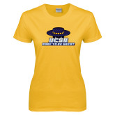 Ladies Gold T Shirt-Dare to be Great