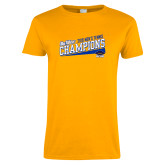 Ladies Gold T Shirt-2018 Mens Tennis Champions